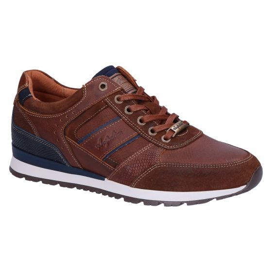 Condor Sneaker darktan blue leather
