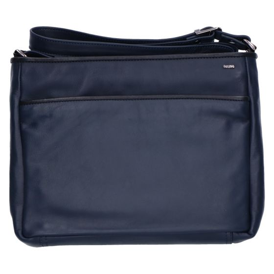 005-450 Tas soft blauw/zwart leer