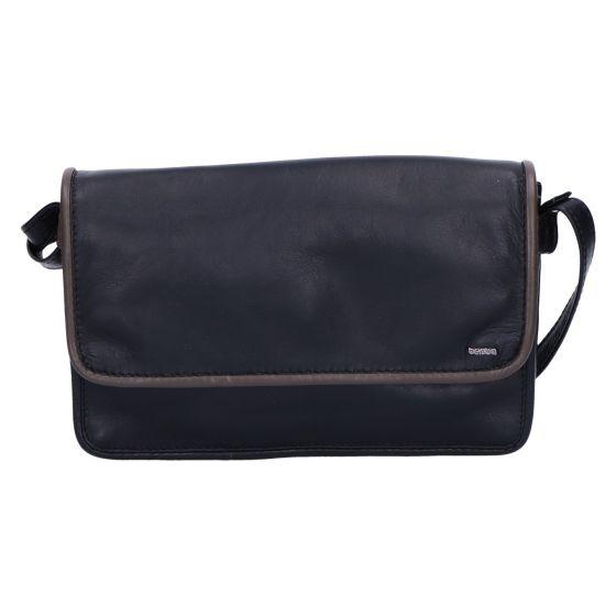 005-562 Flap Bag medium black-taupe