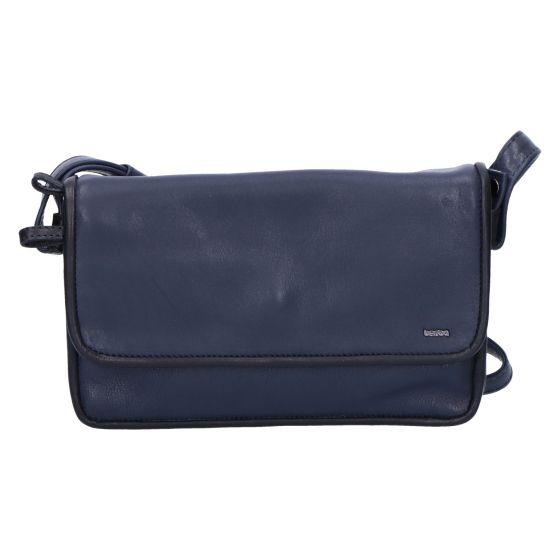 005-562 Flap Bag medium navy/black