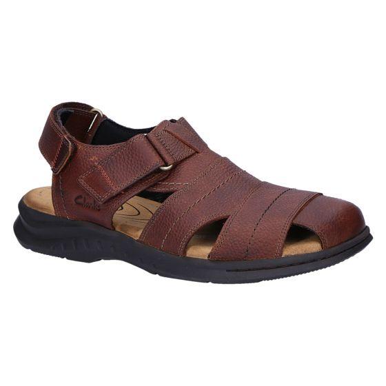 Hapsford Cove Sandaal brown tumbled leather
