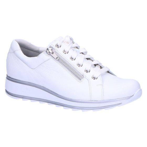 6239 Sneaker wit leer