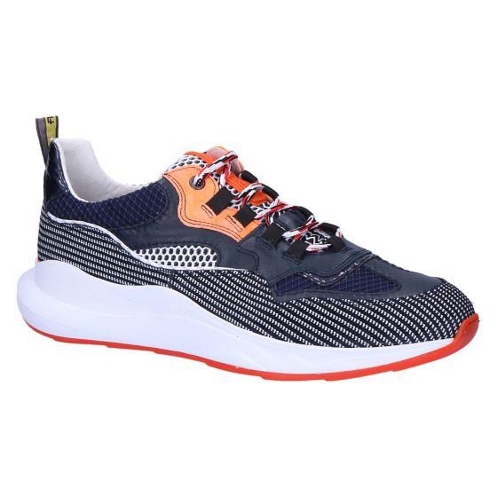 16268/01 Sneaker navy printed suede