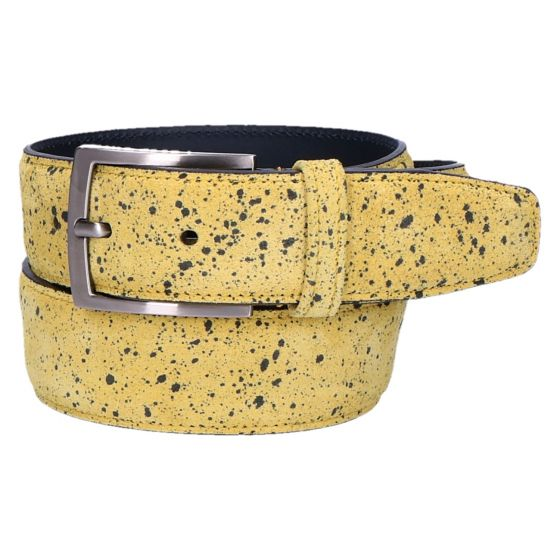75201/86 Riem yellow printed suede