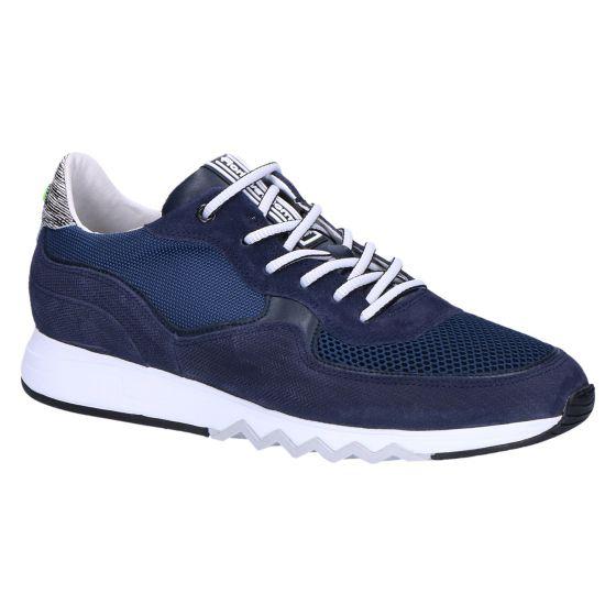 16093/19 Sneaker navy printed suede