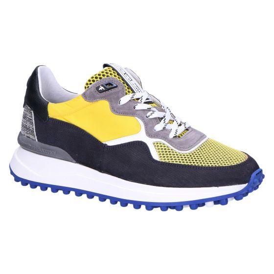 16301/07 Sneaker yellow textile combi