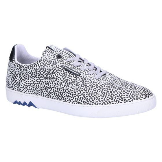 16342/25 Sneaker white printed leather