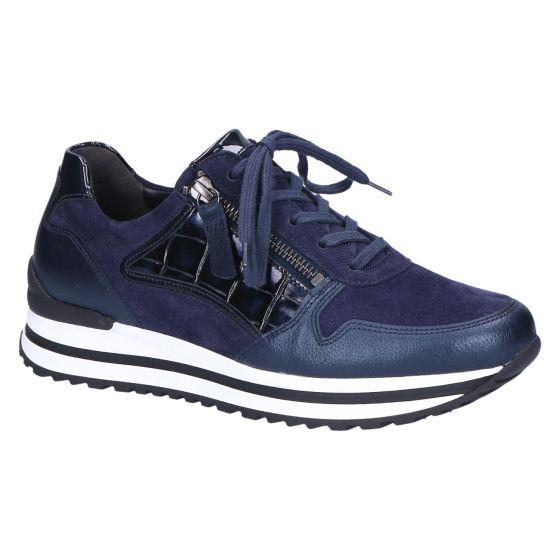 56.526 Sneaker blauw suede/kroko