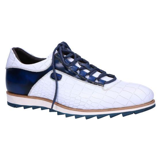 0311 Sneaker morrison bianco shade blue