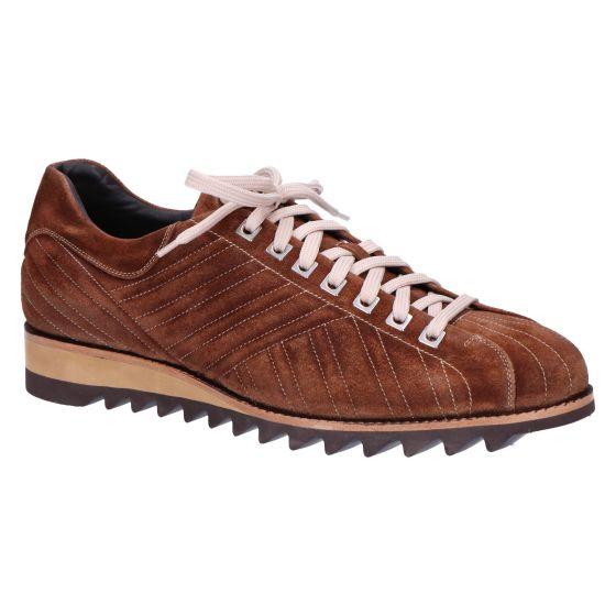 0864 Sneaker mediumbrown suede
