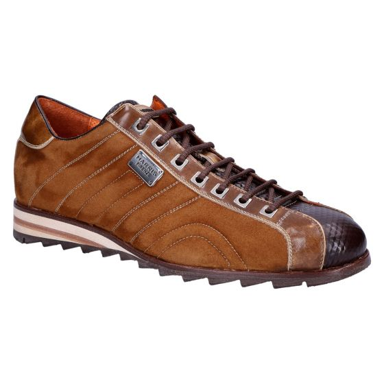 0894 Sneaker velour marrone bruciato