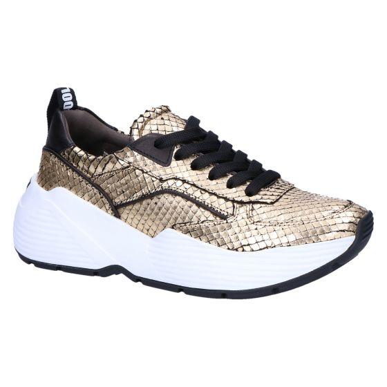 21-24820 Sneaker gold/black snake