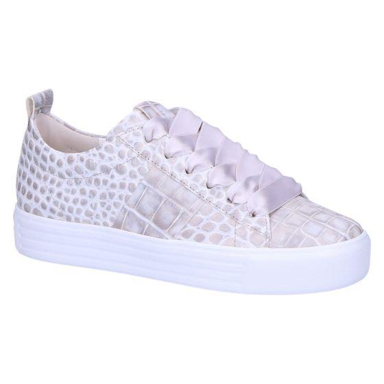 31-14510 Sneaker grijs wit kombi kroko