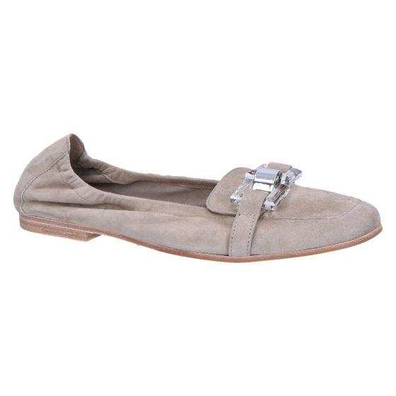31-39550 Ballerina schilf/groen suede