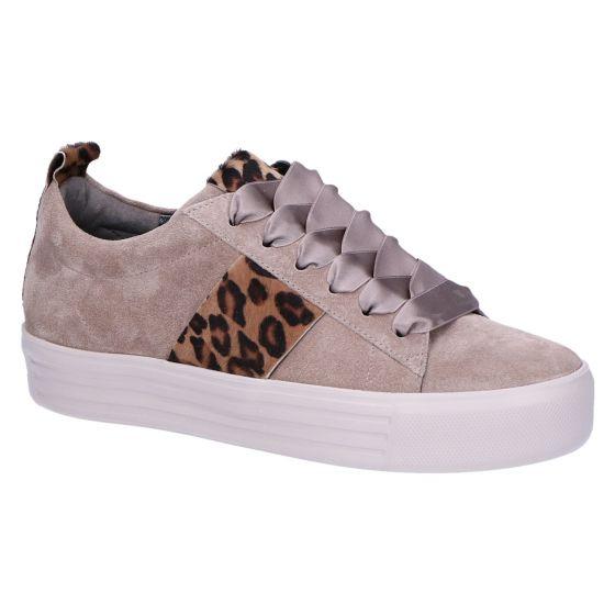 21-14510 Sneaker ombra/camel suede/leopard