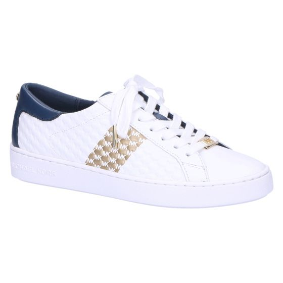 Colby Sneaker white/navy/gold