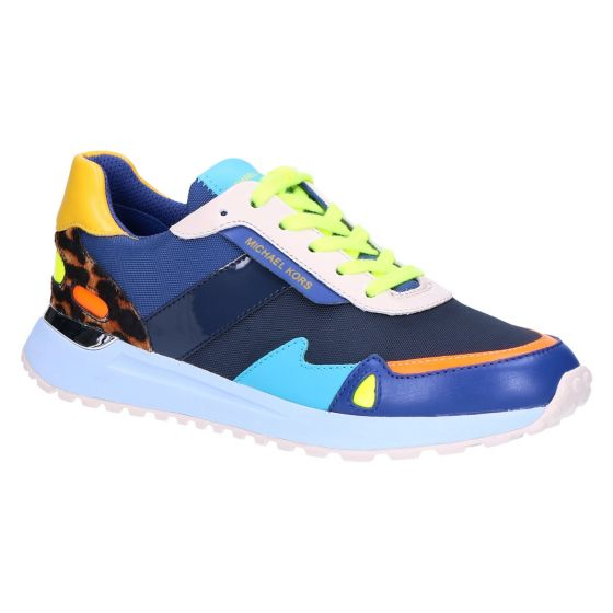 Monroe Trainer navy multi leather/canvas