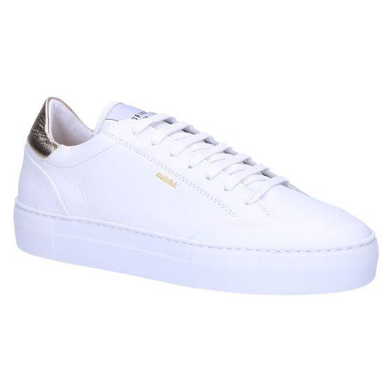 Jolie Naya Sneaker white leather gold trim