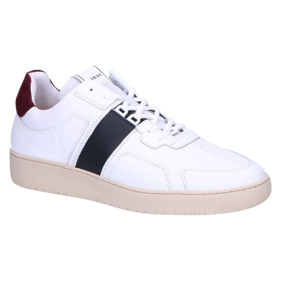 Yucca Cane Sneaker white leather navy trim