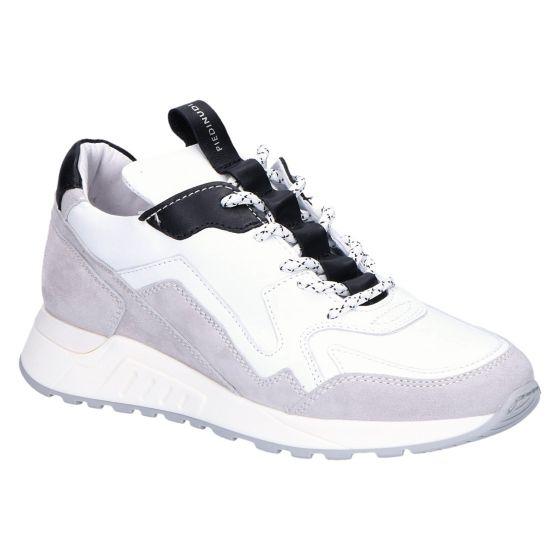 2507 Sneaker wit zwart leer