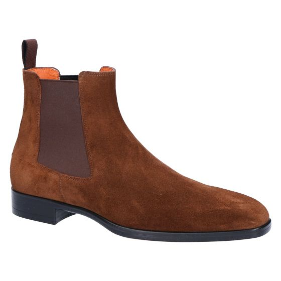 15361 Chelseaboot brown cahsmere suede