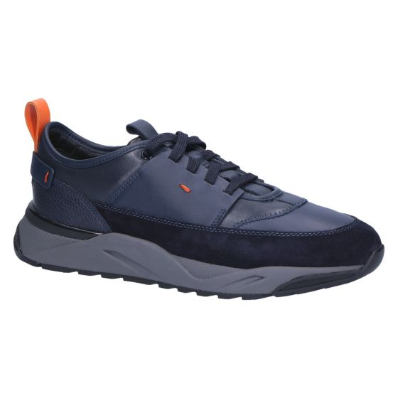 21204 Sneaker ares blue suedecombi