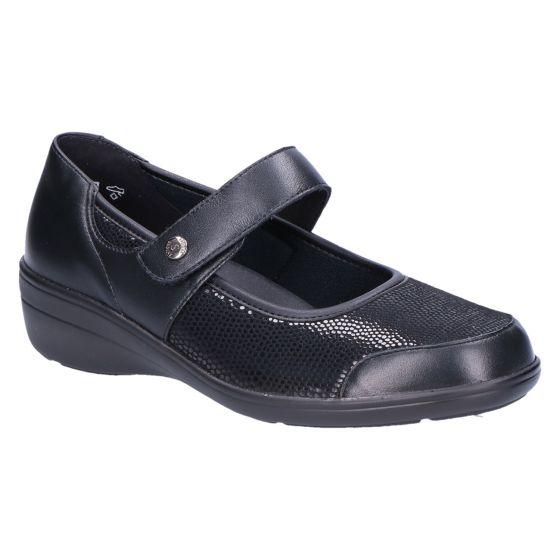 26551 Hedda Klitteband zwart lizzard stretch