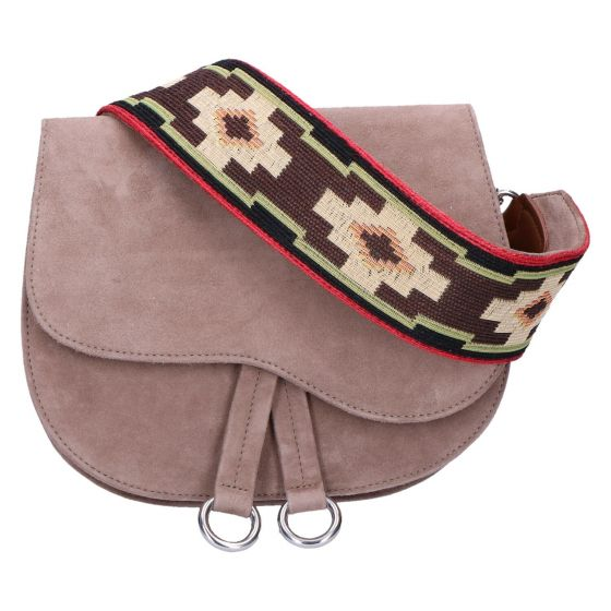 Zforzo Tas taupe suede ethnic band