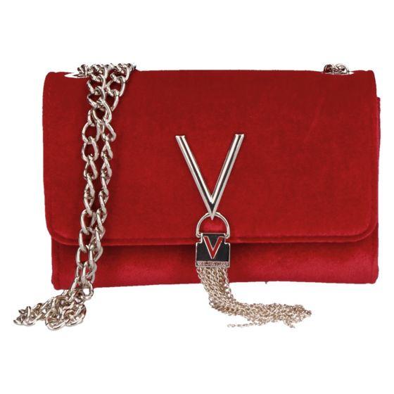 Marilyn Tas/Clutch rosso velvet/fluweel 17x11.5x4