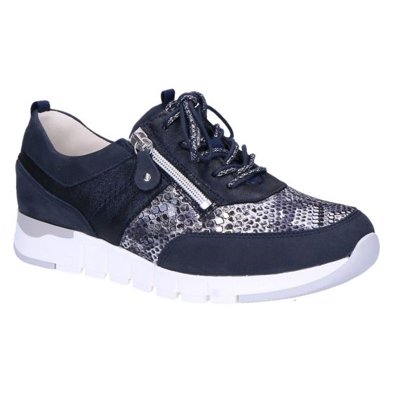 908009 H-Petra Sneaker blauw multi snake