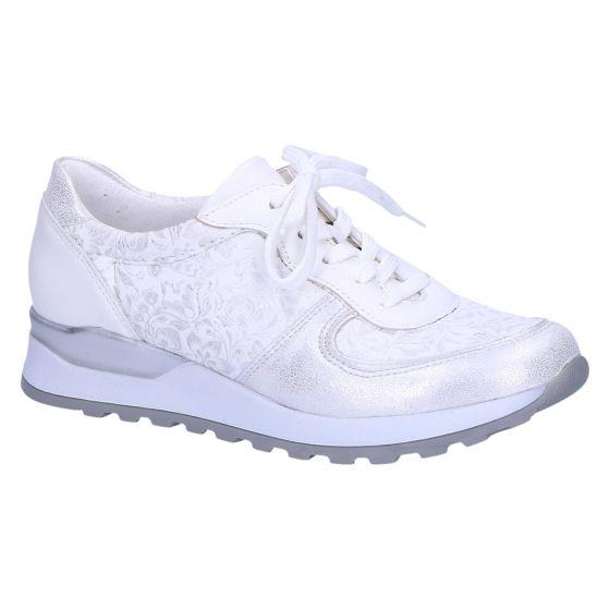 H64001 Hiroko-soft Sneaker zilver wit