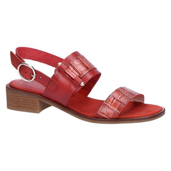 HV00082 Sandaal roodbruin kroko 3.5 cm
