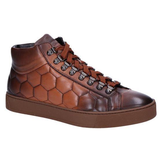 21151 Sneakerboot hexagon cognac