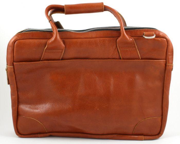 Nano Big Zip Bag cognac leather