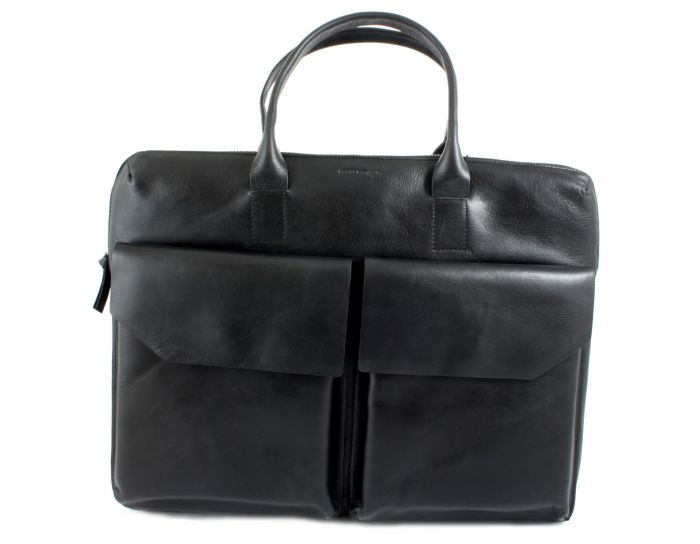 New Courier Day Bag black leather