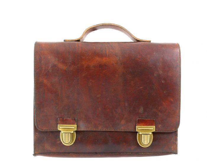 College Bag 13inch  cognac vintage