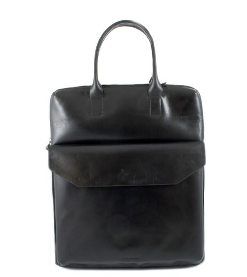 New Courier Bag black leather