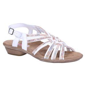 15911B Sandaal wit multi