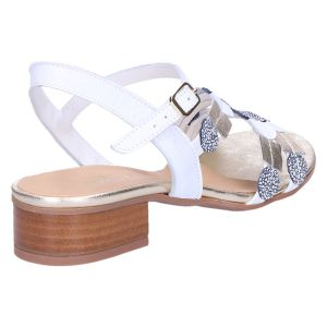 31922 Sandaal wit/goud kombi 2.5 cm