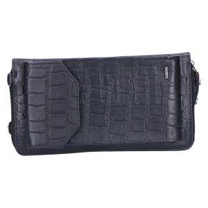 801-930 Phonebag black kroko 19x10 cm