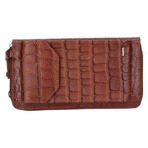 801-930 Phonebag cognac kroko 19x10 cm