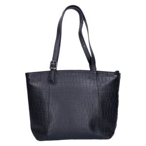 805-313 Shopper black kroko 37x25 cm