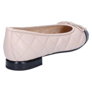 10405 Ballerina beige/zwart matelasse