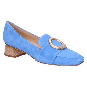 32033 Hoogfront artic blue suede 3.5 cm