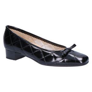 8762C Ballerina zwart lak matelasse 2.5 cm