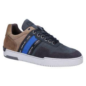 Velodrome Sneaker antraciet beige blue combi