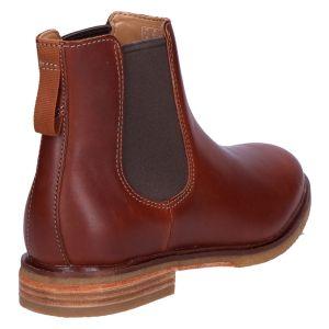 Clarkdale Gobi Chelseaboot mahogany leather
