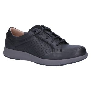 Un Trail Form2  Veterschoen black tumbled leather