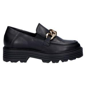 6146 Loafer zwart leer acc goud