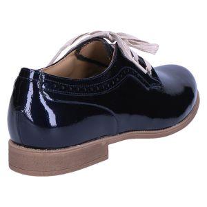 6234-125 Veterschoen blauw lak